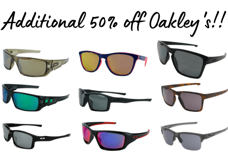 Oakley's!! Extra 50% off!!!