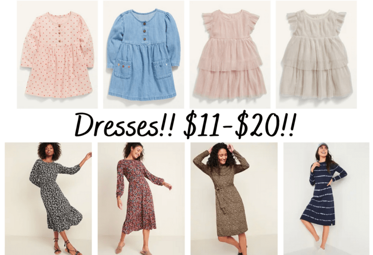 50% off dresses at Old Navy!