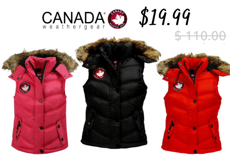 Canada Weather Puffer Vests for Girls!