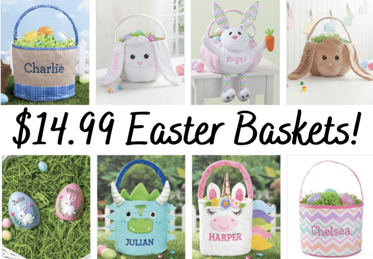 Personalized Easter Baskets $14.99